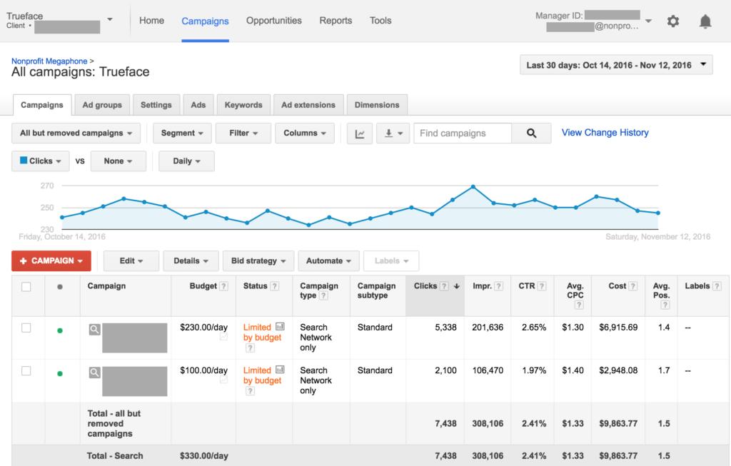 Trueface Google Grant Results
